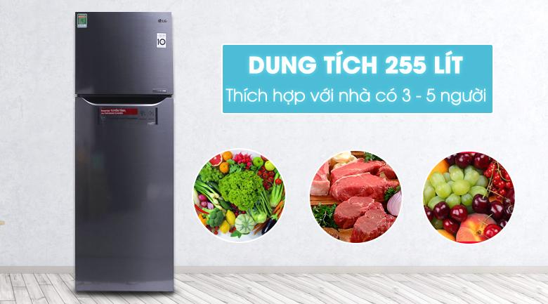Tủ lạnh LG Inverter 255 lít GN-L255PS hình 1