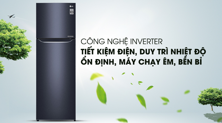 Công nghệ Inverter - Tủ lạnh LG Inverter 255 lít GN-L255PN