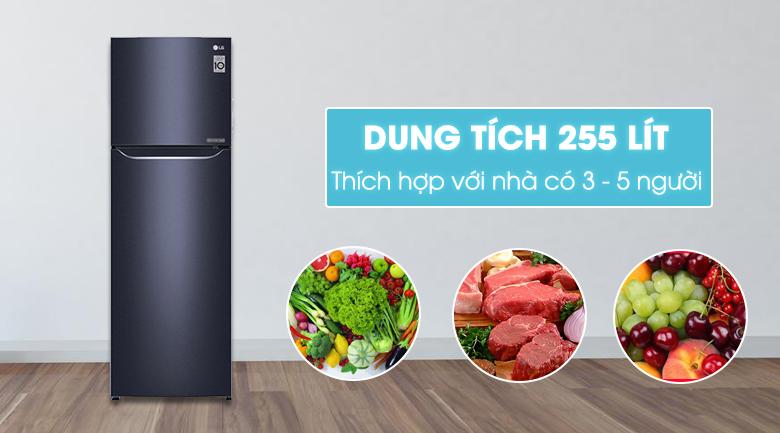 Thiết kế tủ lạnh LG GN-L255PN