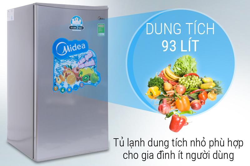 Dung tích 93 lít - Tủ lạnh Midea 93 lít HS-122SN
