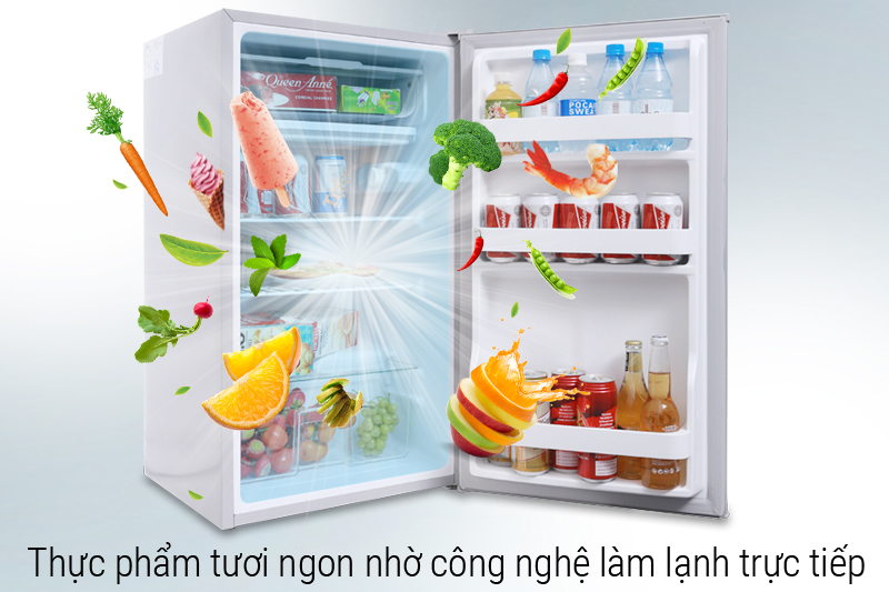 Công nghệ làm lạnh trực tiếp - Tủ lạnh Midea 93 lít HS-122SN