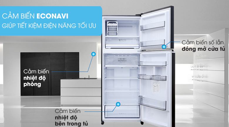 Econavi - Tủ lạnh Panasonic Inverter 405 lít NR-BD468GKVN