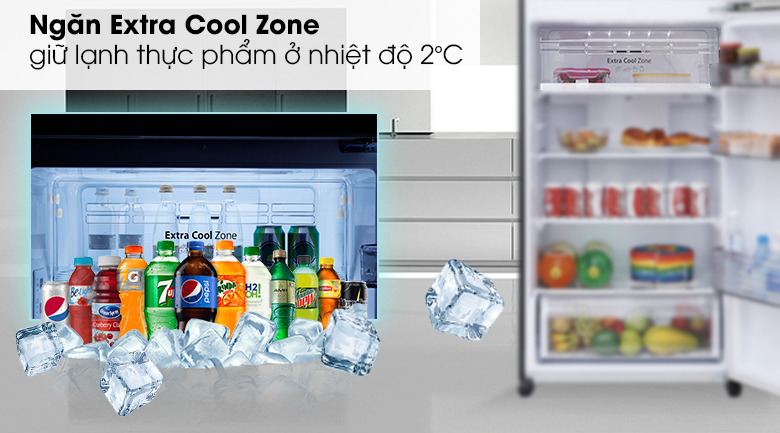 Ngăn Extra Cool Zone ướp lạnh - Tủ lạnh Panasonic Inverter 405 lít NR-BD468GKVN