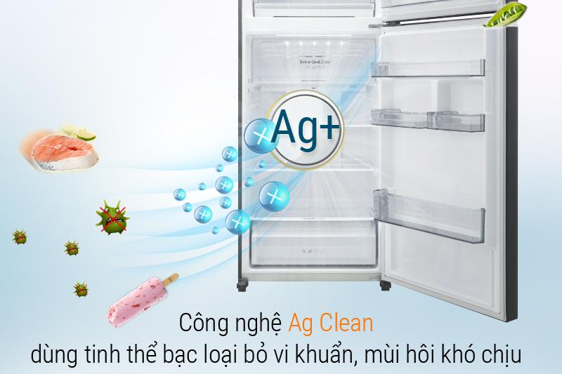 Công nghệ Ag Clean loại bỏ vi khuẩn gây mùi