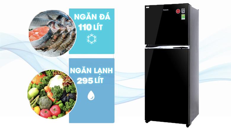 Dung tích lớn - Tủ lạnh Panasonic Inverter 405 lít NR-BD468GKVN