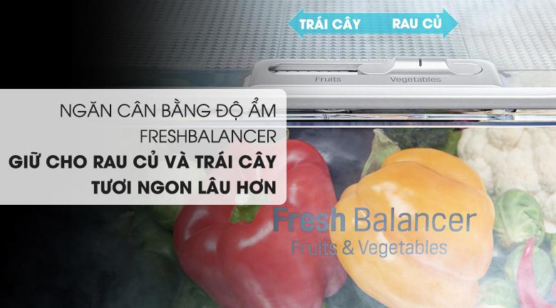 Ngăn cân bằng độ ẩm có thể chuyển đổi 2 chế độ tùy theo nhu cầu sử dụng   - Tủ lạnh LG Inverter InstaView Door-in-Door 601 lít GR-X247JS