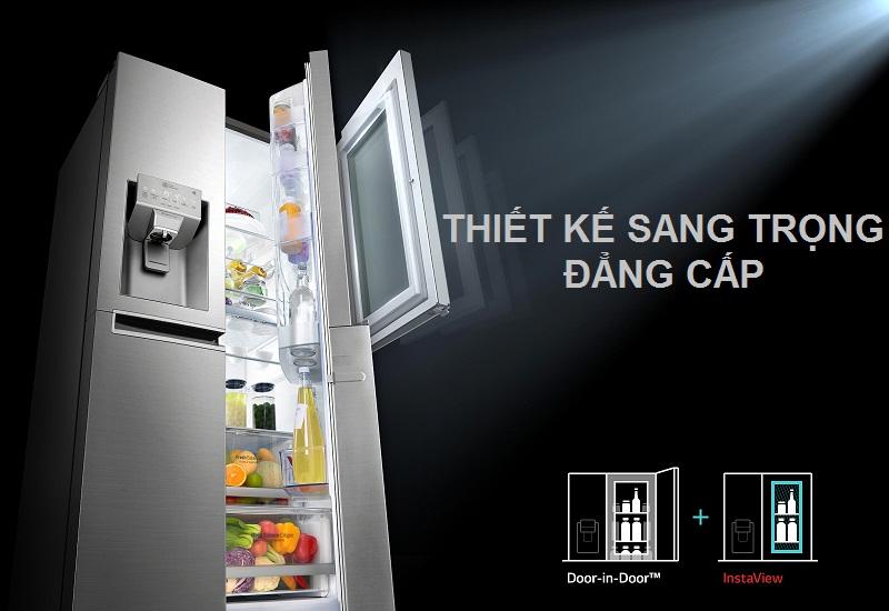 Tủ lạnh với hiết kế sang trọng, đẳng cấp