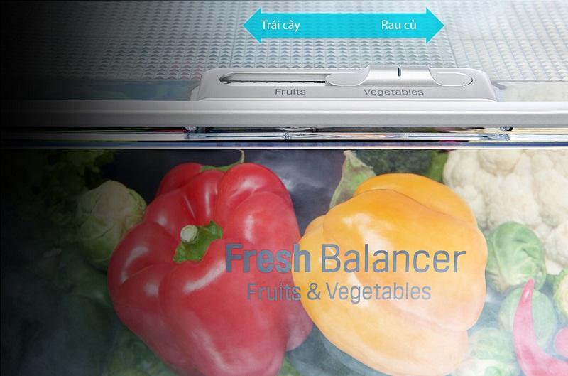 Ngăn cân bằng độ ẩm có thể chuyển đổi 2 chế độ tùy theo nhu cầu sử dụng