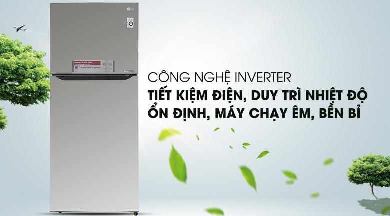 Công nghệ máy nén Inverter giúp tiết kiệm điện năng - Tủ lạnh LG Inverter 393 lít GN-L422PS
