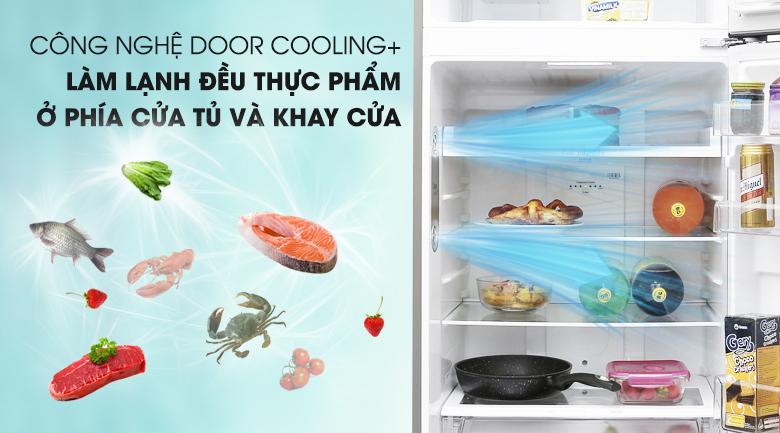 Công nghệ DoorCooling giúp làm lạnh nhanh chóng - Tủ lạnh LG Inverter 393 lít GN-L422PS