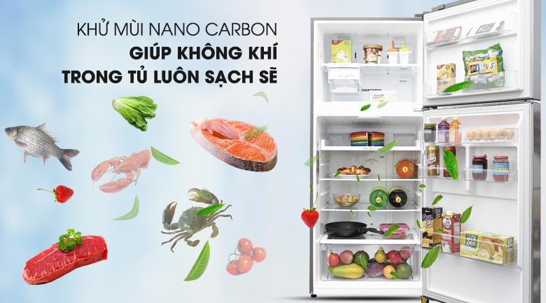 Tủ lạnh LG Inverter 393 lít GN-L422PS- Khử mùi nano carbon