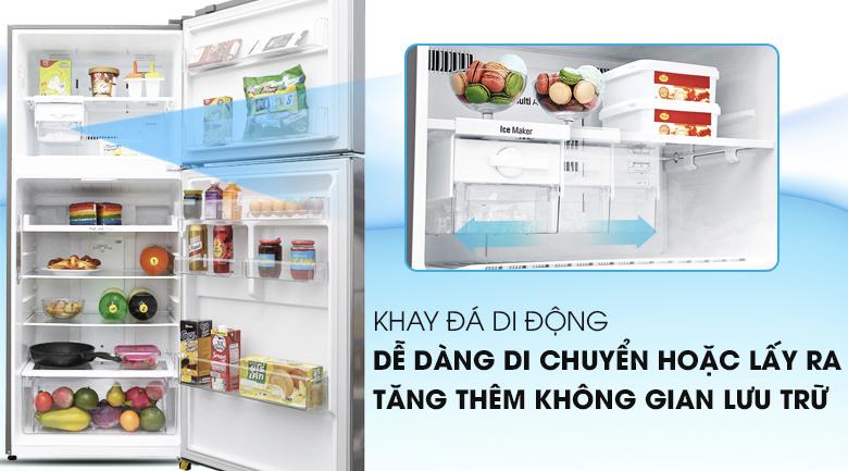 Khay đá di động dễ dàng - Tủ lạnh LG Inverter 393 lít GN-L422PS