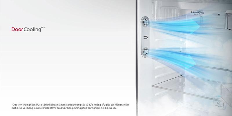 Công nghệ DoorCooling giúp làm lạnh nhanh chóng
