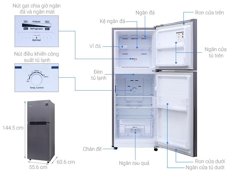 Thông số kỹ thuật Tủ lạnh Samsung 208 lít RT19M300BGS/SV