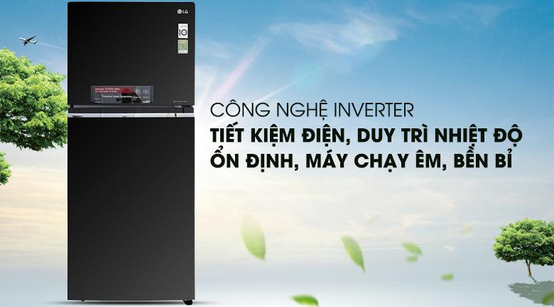 Công nghệ biến tần Inverter giúp tiết kiệm điện năng - Tủ lạnh LG Inverter 393 lít GN-L422GB