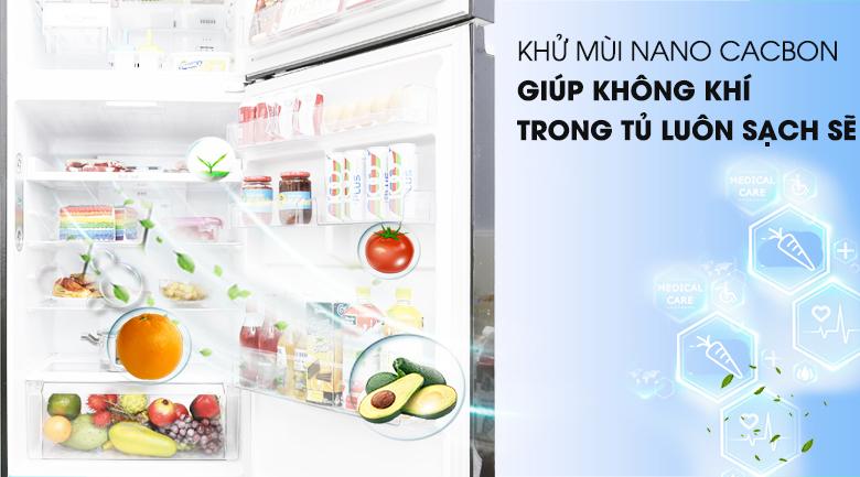 Kháng khuẩn, khử mùi với công nghệ Nano Carbon - Tủ lạnh LG Inverter 393 lít GN-L422GB
