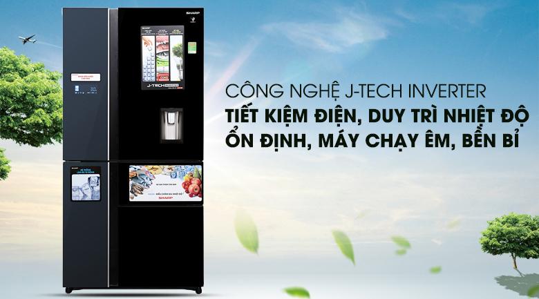 Công nghệ J-Tech Inverter - Tủ lạnh Sharp Inverter 665 lít SJ-F5X75VGW-BK