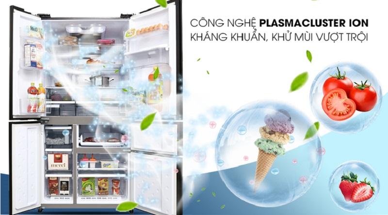 Công nghệ diệt khuẩn Plasmacluster Ion - Tủ lạnh Sharp Inverter 665 lít SJ-F5X75VGW-BK