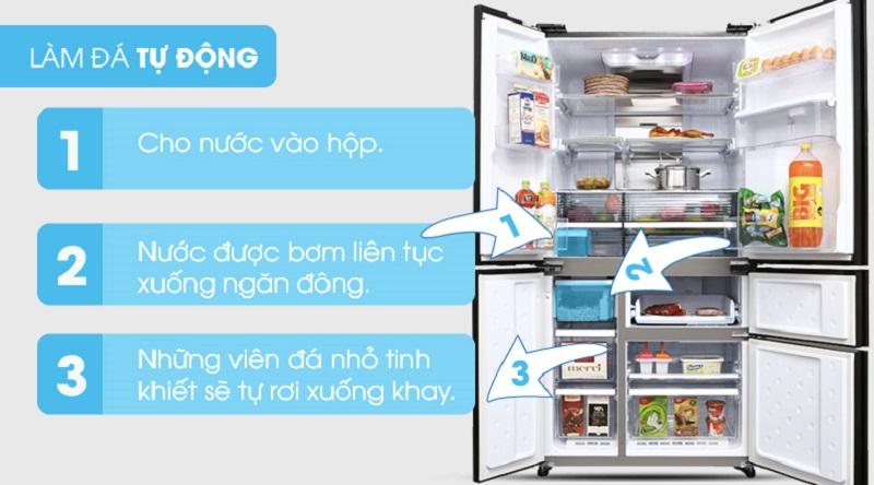 Khả năng tự động làm đá - Tủ lạnh Sharp Inverter 665 lít SJ-F5X75VGW-BK