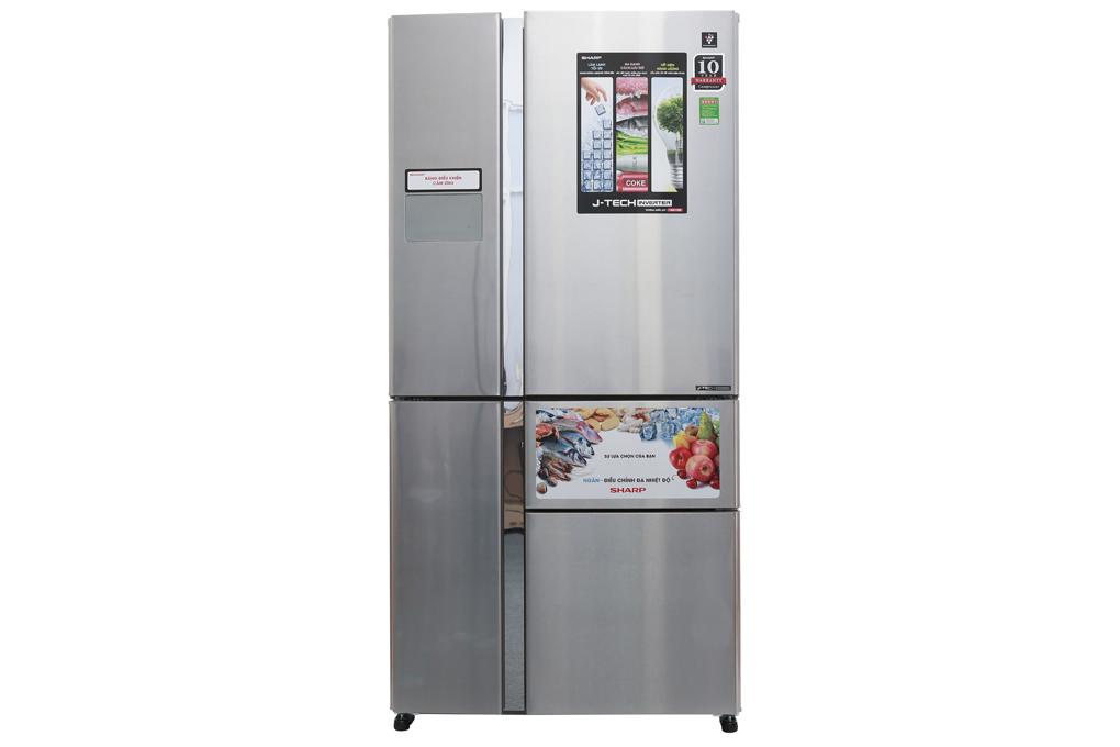 Thiết kế tủ lạnh Sharp inverter 758 lít SJ-F5X76VM-SL