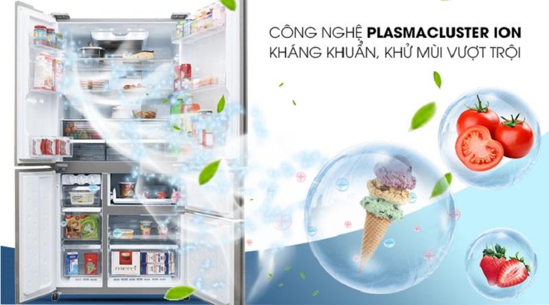 Công nghệ diệt khuẩn Plasmacluster Ion độc quyền - Tủ lạnh Sharp Inverter 758 lít SJ-F5X76VM-SL