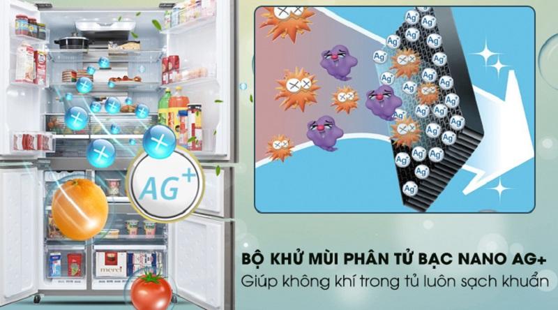 Bộ khử mùi Nano Ag+ Cu - Tủ lạnh Sharp Inverter 758 lít SJ-F5X76VM-SL