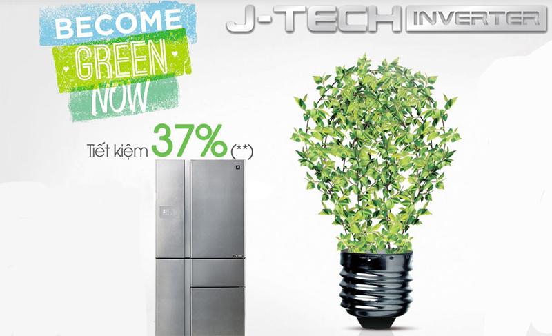 Công nghệ J-Tech Inverter giúp tiết kiệm điện năng tối đa