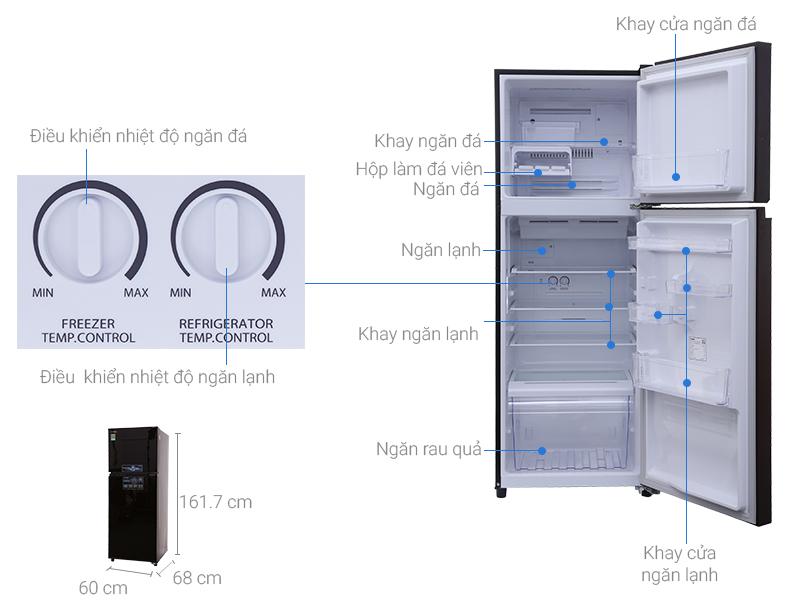 Thông số kỹ thuật Tủ lạnh Toshiba inverter 305 lít GR-MG36VUBZ(XB)