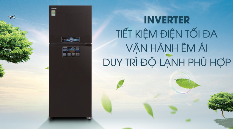 Tủ lạnh Inverter tiết kiệm điện hiệu quả - Tủ lạnh Toshiba Inverter 305 lít GR-MG36VUBZ(XB)
