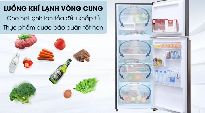 Tủ lạnh Toshiba Inverter 305 lít GR-MG36VUBZ(XB) - Làm lạnh vòng cung