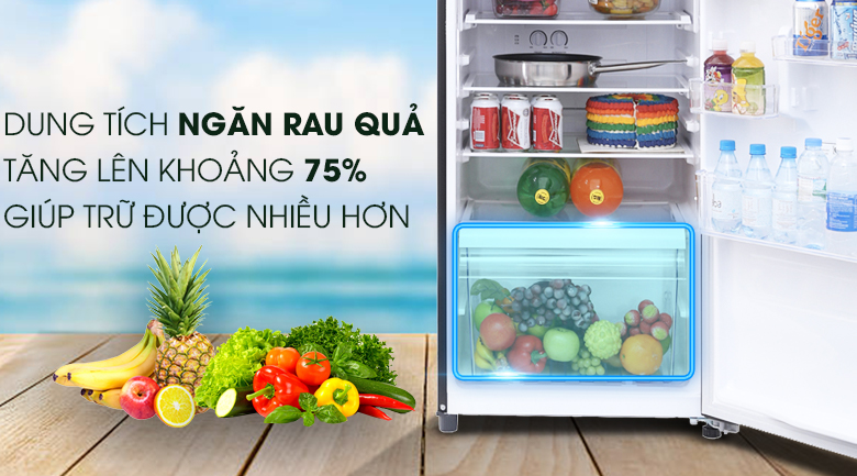 Tủ lạnh Toshiba Inverter 305 lít GR-MG36VUBZ(XB) - Ngăn rau quả
