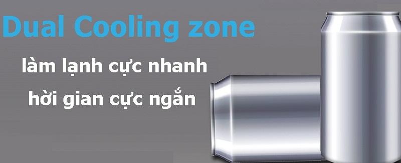 Nhanh chóng làm lạnh thực phẩm với ngăn làm lạnh kép Dual Cooling Zone