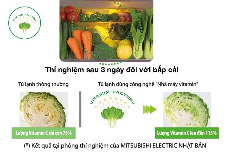 Ngăn chuyên biệt có khả năng giúp rau củ quang hợp tạo Vitamin