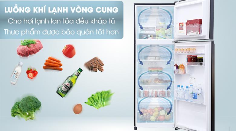 Tủ lạnh Toshiba Inverter 330 lít GR-MG39VUBZ(XK) - Làm lạnh vòm