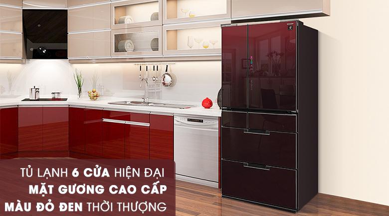 Thiết kế - Tủ lạnh Sharp Inverter 601 lít SJ-GF60A-R/T