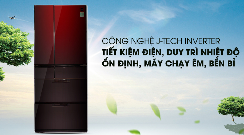 Công nghệ J-Tech Inverter - Tủ lạnh Sharp Inverter 601 lít SJ-GF60A-R/T