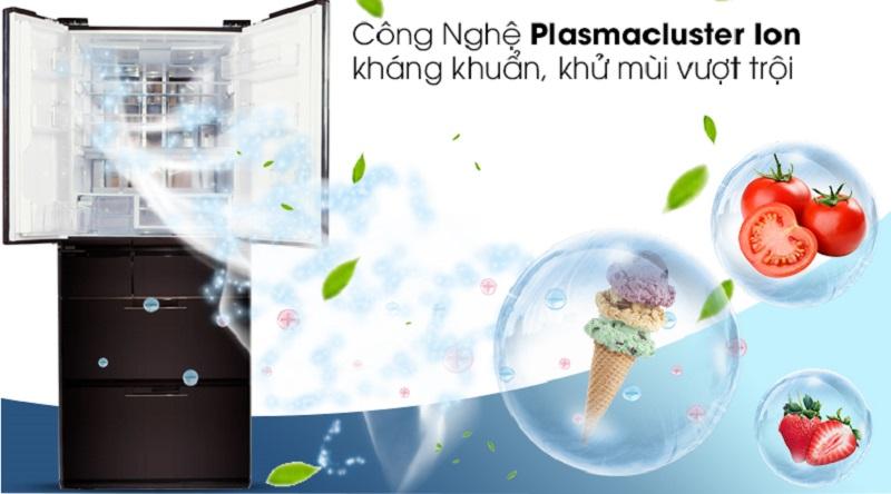 Loại bỏ vi khuẩn, nấm mốc với công nghệ Plasmacluster ion  - Tủ lạnh Sharp Inverter 601 lít SJ-GF60A-R/T