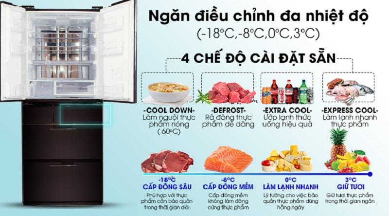 Ngăn điều chỉnh nhiệt độ đa dụng - Tủ lạnh Sharp Inverter 601 lít SJ-GF60A-R/T