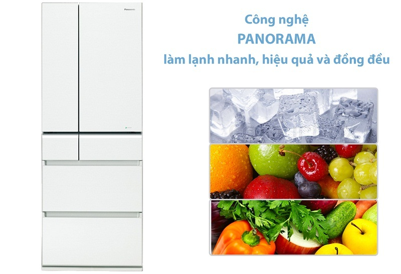 Công nghệ làm lạnh Panorama độc quyền Panasonic cho thực phẩm được làm lạnh tối ưu