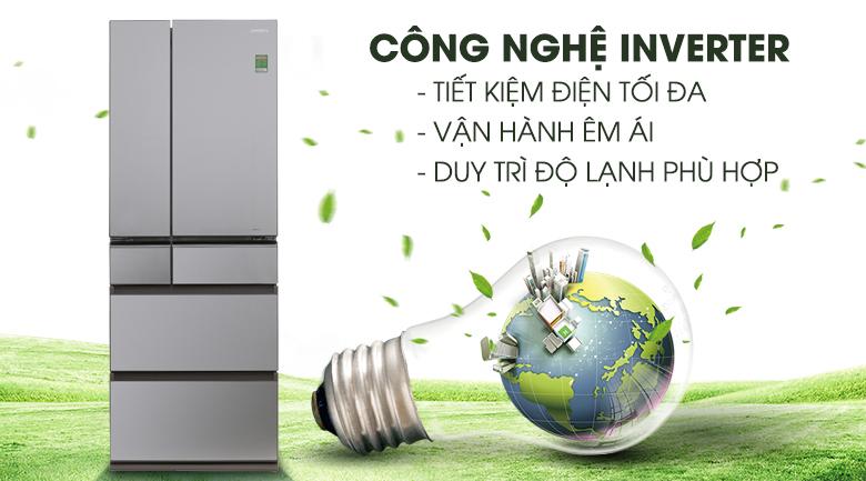 Công nghệ Inverter - Tủ lạnh Panasonic Inverter 489 lít NR-F510GT-N2