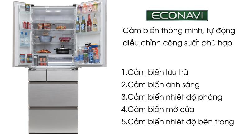Cảm biến Econavi - Tủ lạnh Panasonic Inverter 489 lít NR-F510GT-N2