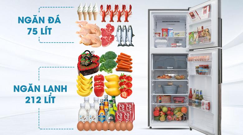 Dung tích 314 lít - Tủ lạnh Sharp Inverter 314 lít SJ-X316E-DS