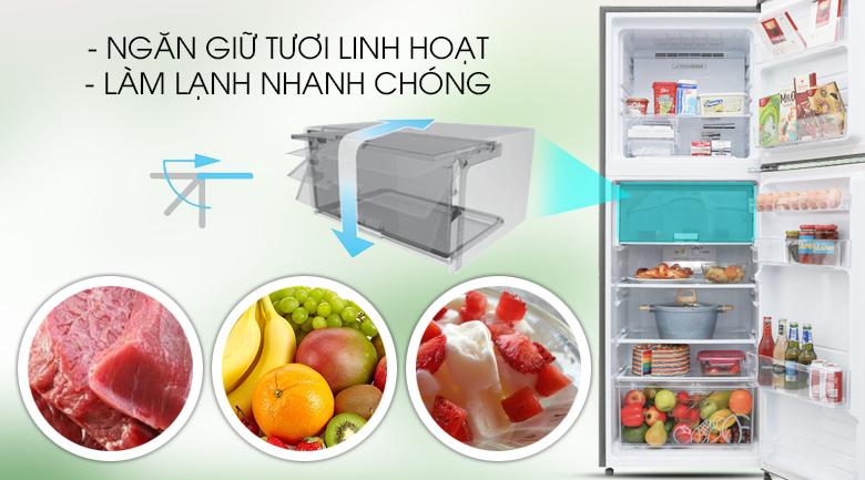Ngăn giữ tươi - Tủ lạnh Sharp Inverter 314 lít SJ-X316E-DS