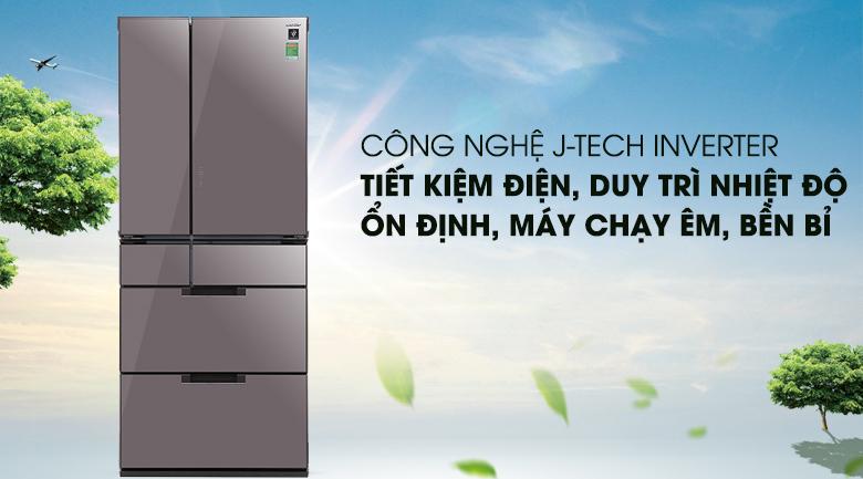 Công nghệ J-Tech Inverter - Tủ lạnh Sharp Inverter 601 lít SJ-GF60A-T