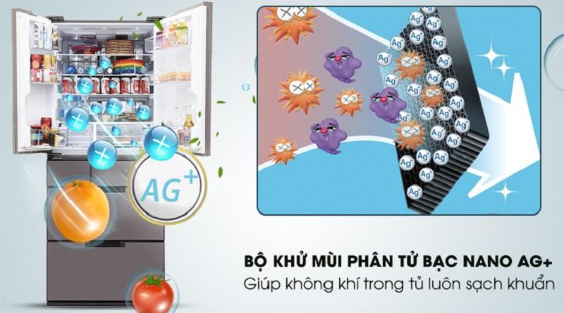 Công nghệ Nano Ag+ giúp kháng khuẩn hiệu quả - Tủ lạnh Sharp Inverter 601 lít SJ-GF60A-T