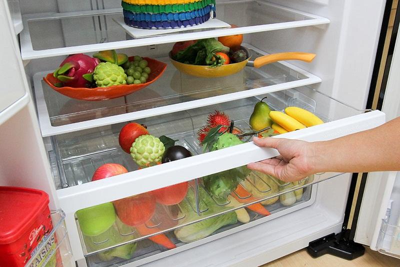 Hộc rau quả giữ ẩm hiện đại cung cấp độ ẩm cho rau củ tươi mới