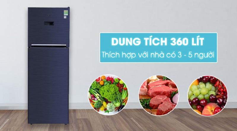 Tủ lạnh Beko inverter 360 lít RDNT360E50VZWB