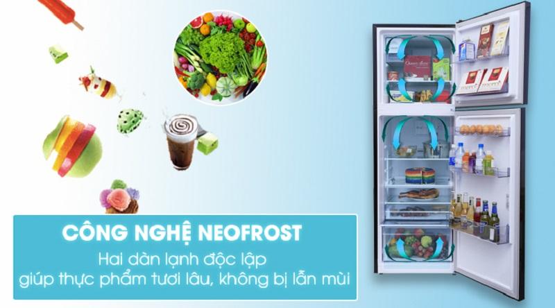 Thiết kế 2 dàn lạnh độc lập chống lẫn mùi hiệu quả - Tủ lạnh Beko inverter 360 lít RDNT360E50VZWB