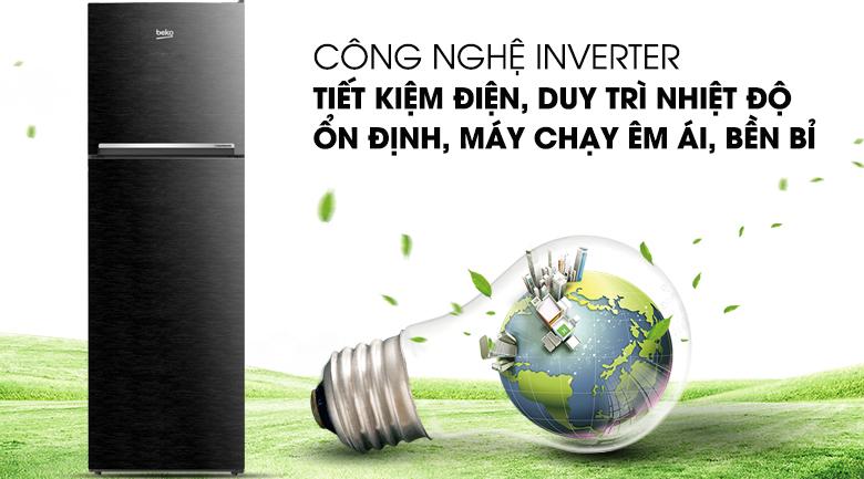 Công nghệ Inverter hiện đại, tiết kiệm điện tối ưu - Tủ lạnh Beko Inverter 270 lít RDNT270I50VWB