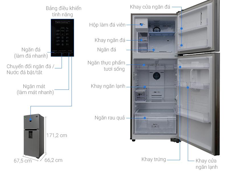 Thông số kỹ thuật Tủ lạnh Samsung Inverter 347 lít RT35K5982S8/SV